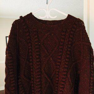 Vintage Sweaters - Vintage Oversized Popcorn Knit Sweater